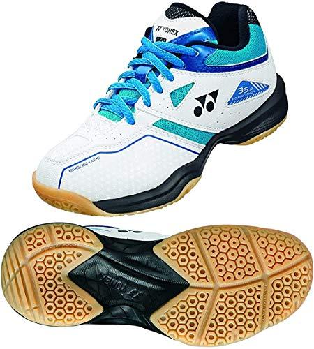 YONEX Power Cushion 36 Junior Indoor Shoe (White/Sky Blue) (5)