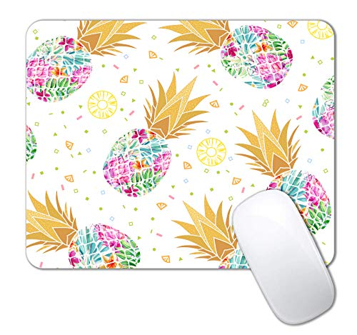 IMAYONDIA Mouse Pad, Colorful Pineapple Mouse Pad, Custom Gaming Mouse Pads with Designs, Rose Gold Fruit Mousepad, Portable Office Non-Slip Rubber Base Wireless Mouse Pad for Laptop Mat