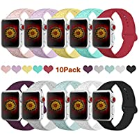 10-Pack Bmbmpt Apple Watch Sport Band Compatible for Apple Watch