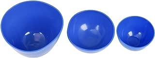 AnhuaDental 3 Pcs Flexible Rubber Mixing Bowls,Dental Rubber Mixing Bowl for Alginate and Plaster Materials(Large+Medium+Small)