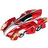 Iycorish Remote Control Climbing Rc Car With Led Lights 360 Degree Rotating Stunt Toys Antigravity Machine Wall Car Gift Red