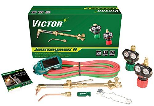 Victor Technologies 0384-2041 Journeyman II Heavy Duty Cutting System, Acetylene Gas Service, ESS4-15-510 Fuel Gas Regulator