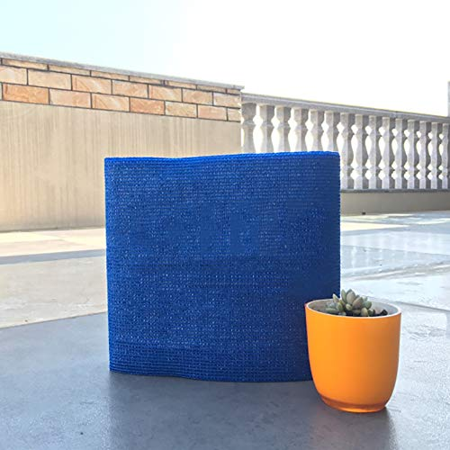GuoWei - Sombrilla para vela con ojales para jardín o balcón o pérgola, azul, 4x1.5m