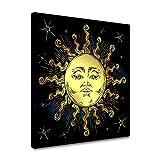 N / A Golden Sun Poster und Print Print Leinwand Malerei Boho-Stil Nicht für die Raumdekoration...