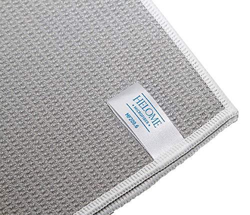 HelOME Microfaser Trockentuch Geschirrtuch extra saugstark 38 x 60 cm Microfasertuch für Küche, Gastronomie, Auto. Trocknet Fenster, Armaturen, Gläser, Besteck garantiert streifenfrei. Waffelstruktur - Profi-Trockentuch von HELOME