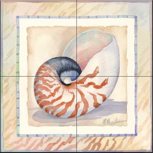 Fliesenwandbild - Grenzte Shell Nautilus - von Paul Brent - Küche Aufkantung/Bad Dusche