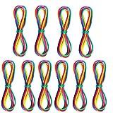 ZoneYan Jeux de Ficelle Cats Cradle Corde,10 Pièces Rainbow Rope,Corde à Doigts,Jeu de Ficelle Doigts,Corde Arc en Ciel