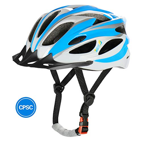 AGH Adult Adjustable Light Weight Helmet(5 Colors), CPSC Certificed for Ventilated Mountain Road Bike Helmet with Removable Sun Visor, Suitable for Men and Women.