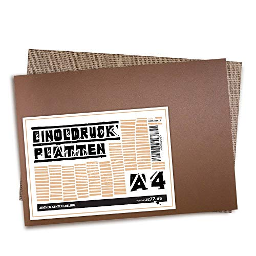 Zeichen-Center Ebeling Linoldruck und Linolschnitt-Platte DIN A4-2er Set