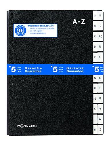 Pagna Pultordner Classic (Pultmappe, 24 Fächer, A-Z) schwarz