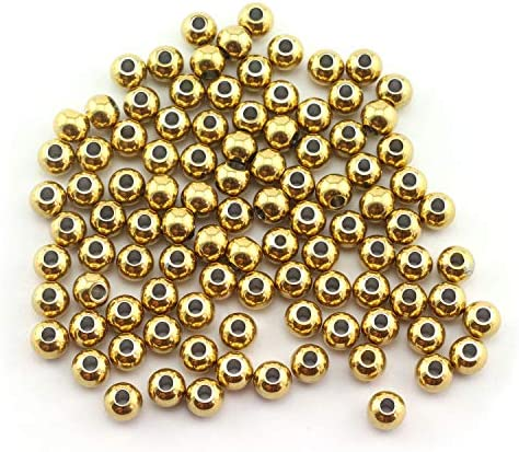 Tegg 100pcs 6mm Smooth Round Spacer Beads DIY Crafts Making Jewelry Findings Accessories 304 product image