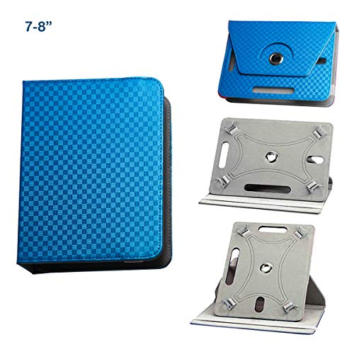 BEISK, Funda Universal para Tablet de 7-8 Pulgadas, con Sistema Giratorio de 360º, Rotación, Protección, con Soporte, para Huawei Mediapad/Samsung Galaxy Tab/Lenovo, Etc. Color Azul