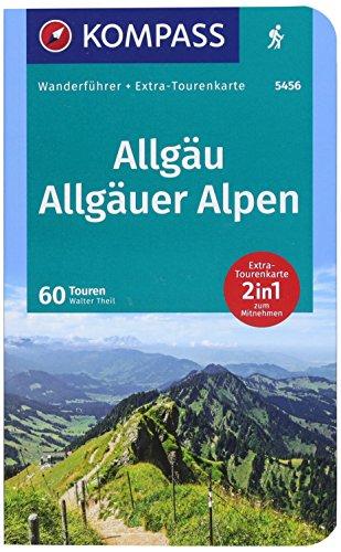 KOMPASS Wanderführer Allgäu, Allgäuer Alpen: Wanderführer mit Extra-Tourenkarte 1:40000, 60 Touren, GPX-Daten zum Download.