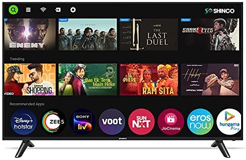 Shinco 109 cm (43 inches) 4K Ultra HD Smart LED TV S43UQLS (Black) (2021 Model)
