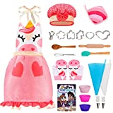 JOYIN Unicorn Baking Set for Girls Gifts Make and Bake Cookies Kit Including Unicorn Apron, Unicorn Themed Cookie Cutters, Cooking Book and More