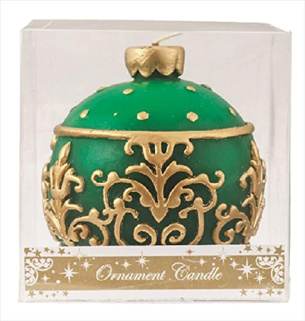 温室豊富カスケードカメヤマキャンドル(kameyama candle) オーナメントキャンドル 「 グリーン 」