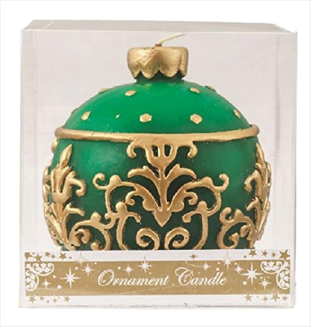 枕ストライプ抵抗力があるカメヤマキャンドル(kameyama candle) オーナメントキャンドル 「 グリーン 」