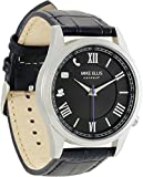Mike Ellis Connect m4849 a MEC Reloj Senator Acero Inoxidable, Piel Plata/Negro