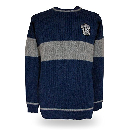 Harry Potter Quidditch Ravenclaw Sweater Pullover Original aus dem Film Lammwolle - L