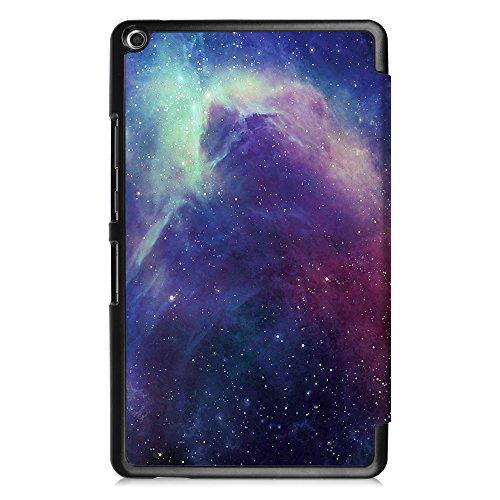 Fintie Huawei Mediapad T3 8 Hülle Case - Ultra Dünn Superleicht SlimShell Ständer Cover Schutzhülle Tasche mit Zwei Einstellbarem Standfunktion für Huawei T3 20,3 cm (8,0 Zoll), Die Galaxie - 6
