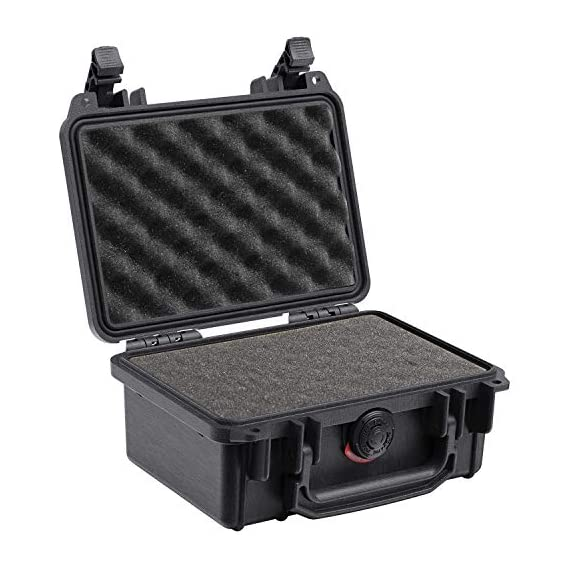 Pelican 1200 case with foam (black) & 1120 case with foam (black) 3 the pelican 1200 case is watertight, crushproof, and dust proof. Pelican 1200 case is built with automatic pressure equalization valve. The 1220 case has stainless steel hardware.