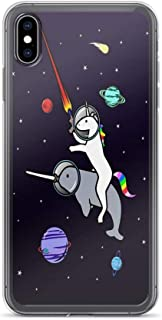 iPhone 7 Case iPhone 8 Case Clear Anti-Scratch Shock Absorption Unicorn Riding Narwhal in Space Cover Phone Cases for iPhone 7/iPhone 8
