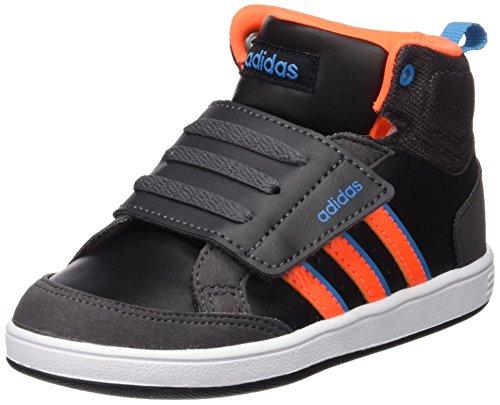 adidas Unisex Kinder Hoops CMF MID INF Sneakers, Negro/Naranja/Azul (Negbas/Narsol/Azusol), 25 EU
