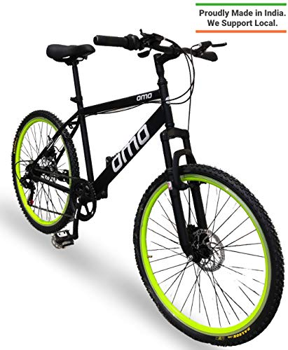 Omobikes Manali G7 | Lightweight | Fast Light Weight Hybrid Cycle with Alloy Rims, Anti Rust Frame (Green)
