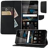 MOELECTRONIX Buch Klapp Tasche Schutz Hülle Wallet Flip Hülle Etui passend für Huawei P8 GRA-L09
