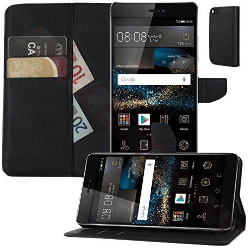 MOELECTRONIX Buch Klapp Tasche Schutz Hülle Wallet Flip Case Etui passend für Huawei P8 GRA-L09