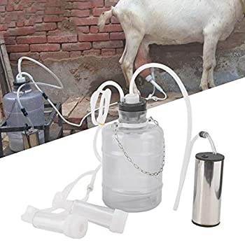 Naroote Electric Breast Pump 3L Household Electric Goat Cow Milking Machine with Vacuum-Pulse Pump Sheep Use
