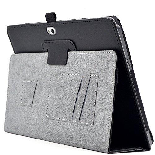 『F.G.S ブラック HUAWEI docomo Dtab d-01H ケース Dtab d-01H カバー 手帳型 スタンド機能、カードセット付き 手持ちハンド付き F.G.S正規代理品』の8枚目の画像