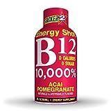 Stacker 2 B12 No Calorie Zero Sugar Energy & Vitamin Shots 2 Fl. Oz. (Pack Of 12) Acai Pomegranate