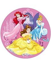 Oblea de Tarta con Diseño Oficial de Princesas Disney 20cm