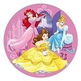 Dekora - Decoracion Tartas de Cumpleaños Infantiles en Disco de Oblea Disney Princesas - 20 cm de Diámetro