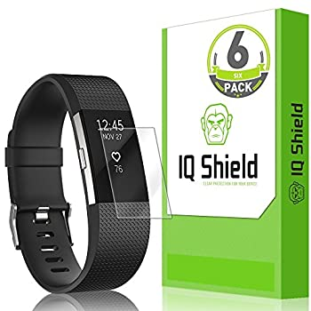 IQ Shield Screen Protector Compatible with Fitbit Charge 2  6-Pack  Anti-Bubble Clear Film