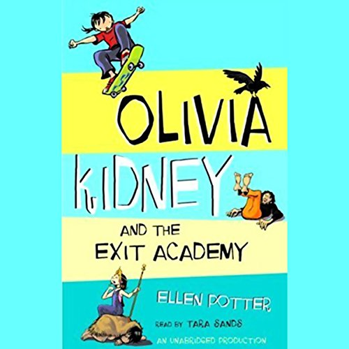 Olivia Kidney and the Exit Academy audiobook cover art
