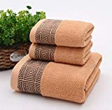 IAMZHL Toalla de baño de algodón Grande Toallas Gruesas Baño para el hogar Hotel para Adultos Niños Toalha de banho Servilleta de baño-Dark Khaki-1piece 70x140cm