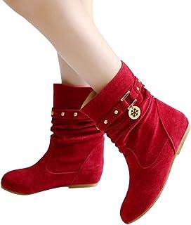 d93e307cbf6951 Manadlian Chaussures Bottes Hiver De Neige Femme Boots Fourrees Bottines  Mode Courts avec Doublure Chaude Bottines