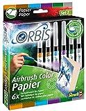 Orbis 30104 Papierpatronen, 6er Pack (Farben: orange, braun, lila, hellblau, dunkelgrün, grau) Kinder und Allen Anderen Kreativen, Zubehör für das Airbrush Power Studio 30020, Mehrfarbig -