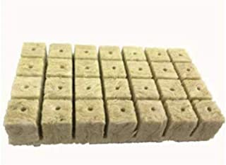 50 Pcs Rockwool Stonewool Hydroponic Grow Cubes Starter Sheets for Cloning,Plant Propagation,Seed Starting Hydroponic Grow...