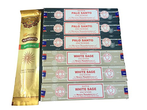 Satya - Encens - Sauge blanche et Palo Santo - Sauge blanche Masala incluse