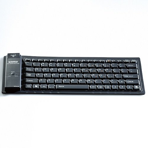 Bluetooth Wireless Roll-Up Keyboard for iPad Tablet