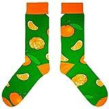 CUP OF SOX Damen Herren Lustige Bunte Socken mit Weihnachtsmotiven in der Pappbecher - Ideal als Weihnachtsgeschenk für Männer & Frauen (37-40, Mandarine)