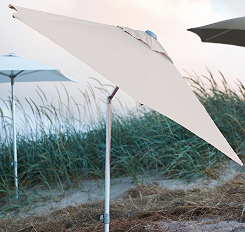 Jan Kurtz 2x1,5 m Sonnenschirm natur aus Aluminium mit Knickgelenk Elba
