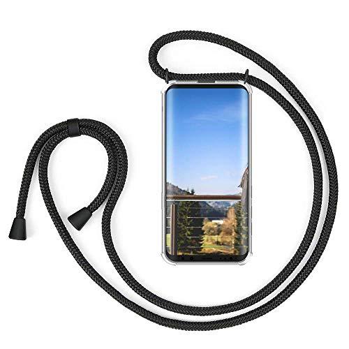 XCYYOO Carcasa de movil con Cuerda para Colgar Samsung Galaxy S9 Plus/S9+【Versión Popular 2019】 Funda para iPhone/Samsung/Huawei con Correa Colgante para Llevar en el Cuello -Hecho a Mano en Berlin