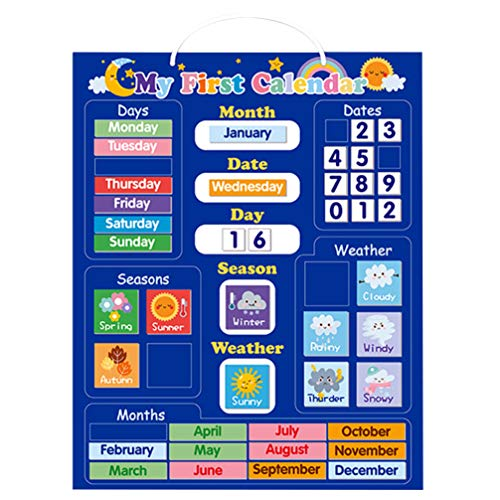 Artibetter 認知カレンダー 磁気カレンダー 英語勉強 知育玩具 教育玩具 初期教育 カレンダー 天気 季節 子供 パズル 幼児 子供