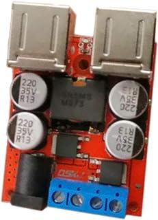 Baoblaze 4 USB Outputs 8-35V to 5V DC-DC 8A Step Down Power Module Converter Car Charger
