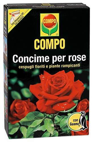 Fertilizante COMPO para rosas, con guano, también para la floración y escalada de arbustos, 1 kg