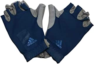 Adidas Half Finger Gloves for Unisex, Blue - M